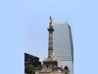 Angel of Independence on Reforma Avenue, Mexico City