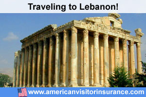 Buy visitor insurance for Lebanon