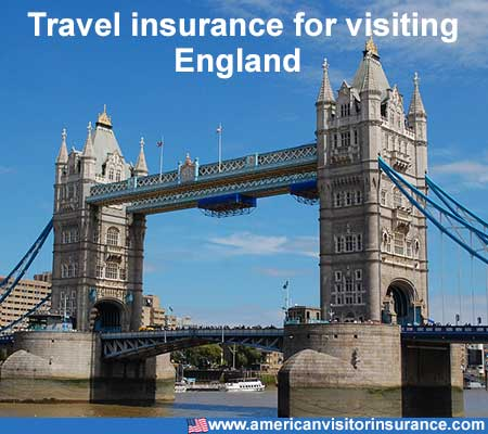 travel insurance for visiting England