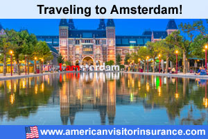 Buy visitor insurance for Amsterdam