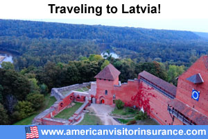 Buy visitor insurance for Latvia
